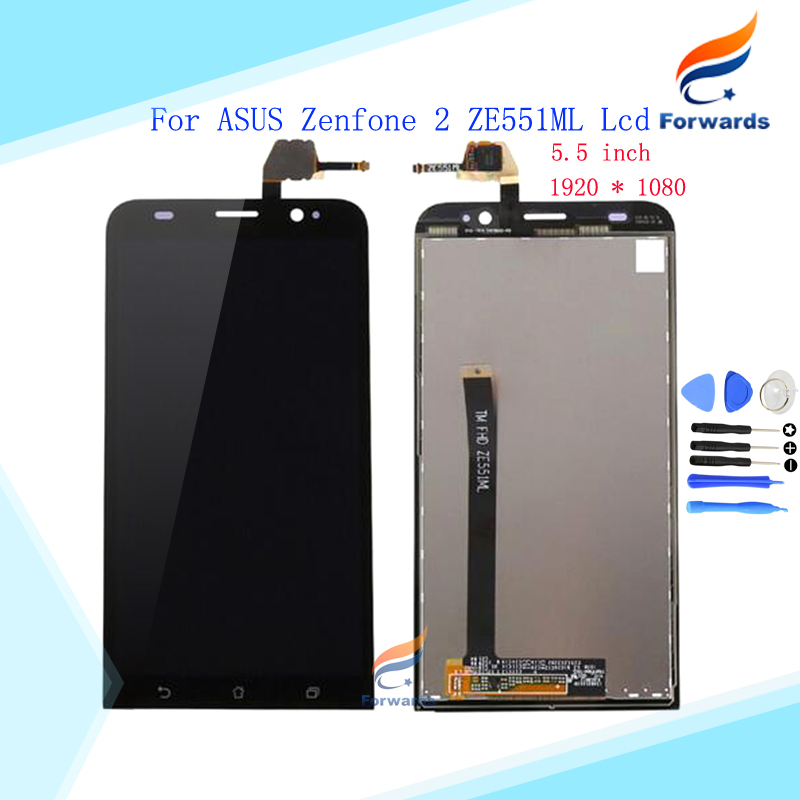 Brand New LCD for ASUS Zenfone 2 ZE551ML Screen Display with Touch Digitizer Tools Assembly Black 5.5 inch 1 piece free shipping