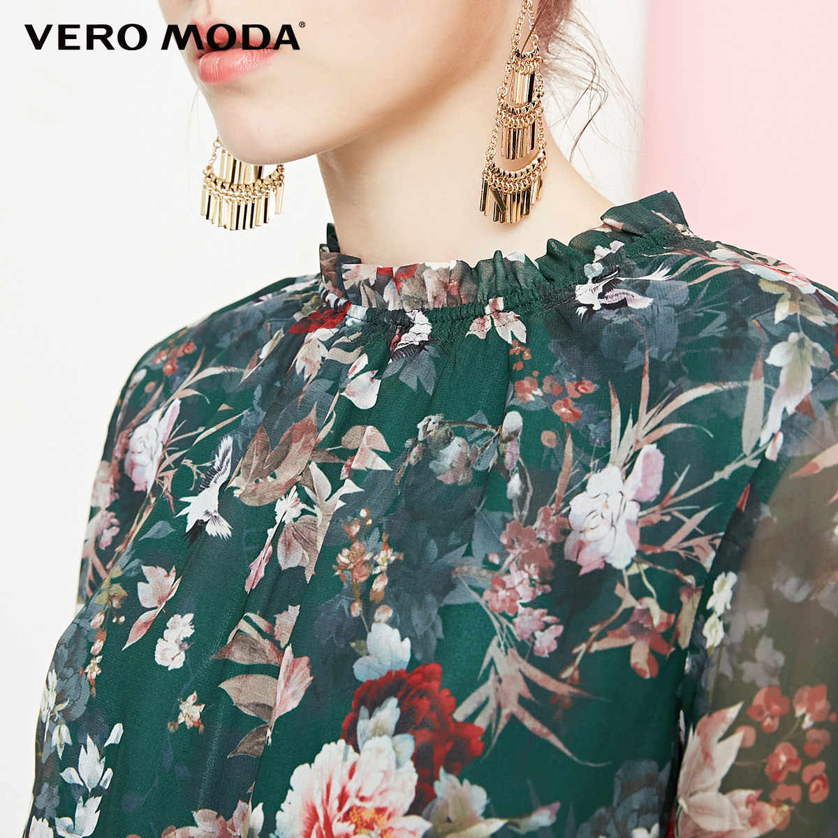 Vero Moda 2019 новый стиль суд Раффлед печатных ткань цветочные платье | 31837D501