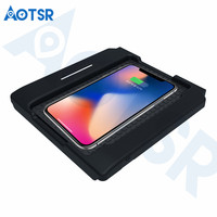 Aotsr Wireless car charger for Lexus NX 2015 2016 2017 Intelligent Infrared Fast Wirless Charging Car for Phone/Sumsang/Nokia/LG