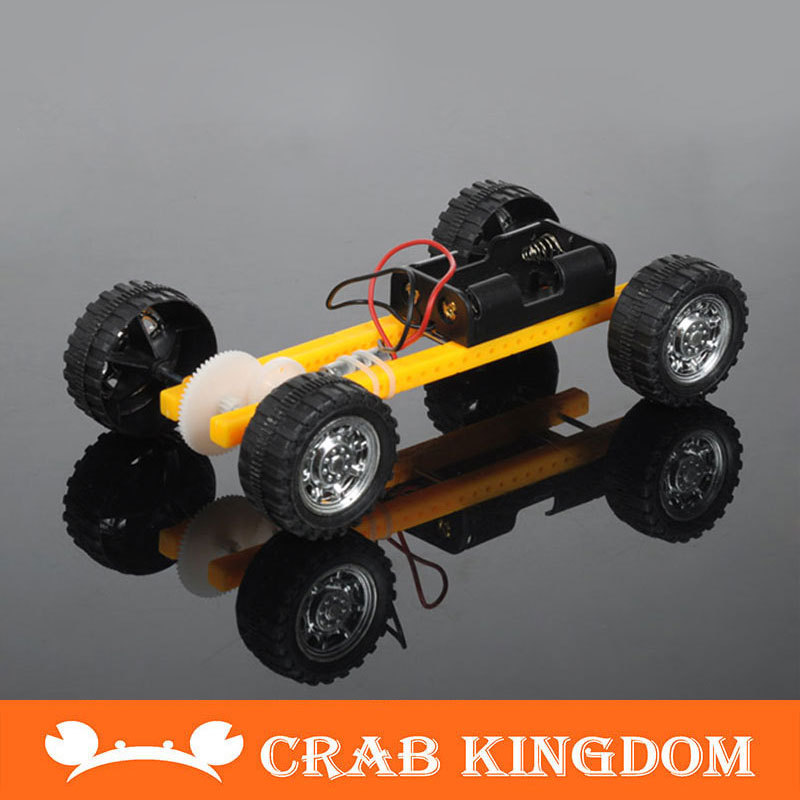 Educational Equipment Diy Car Toy Electric Technology Making Model Battery Version
