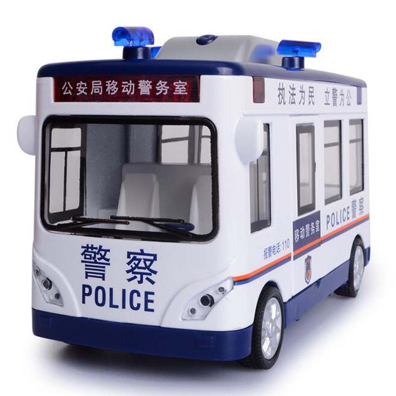 Simulation Baby Toys Diecast Model Fan Car Metal Alloy Cars Back Pull/Lighting Police Vehicles Kid Toy Gift/Collection/kids Deco maisto jeep wrangler rubicon fire engine 1 18 scale alloy model metal diecast car toys high quality collection kids toys gift