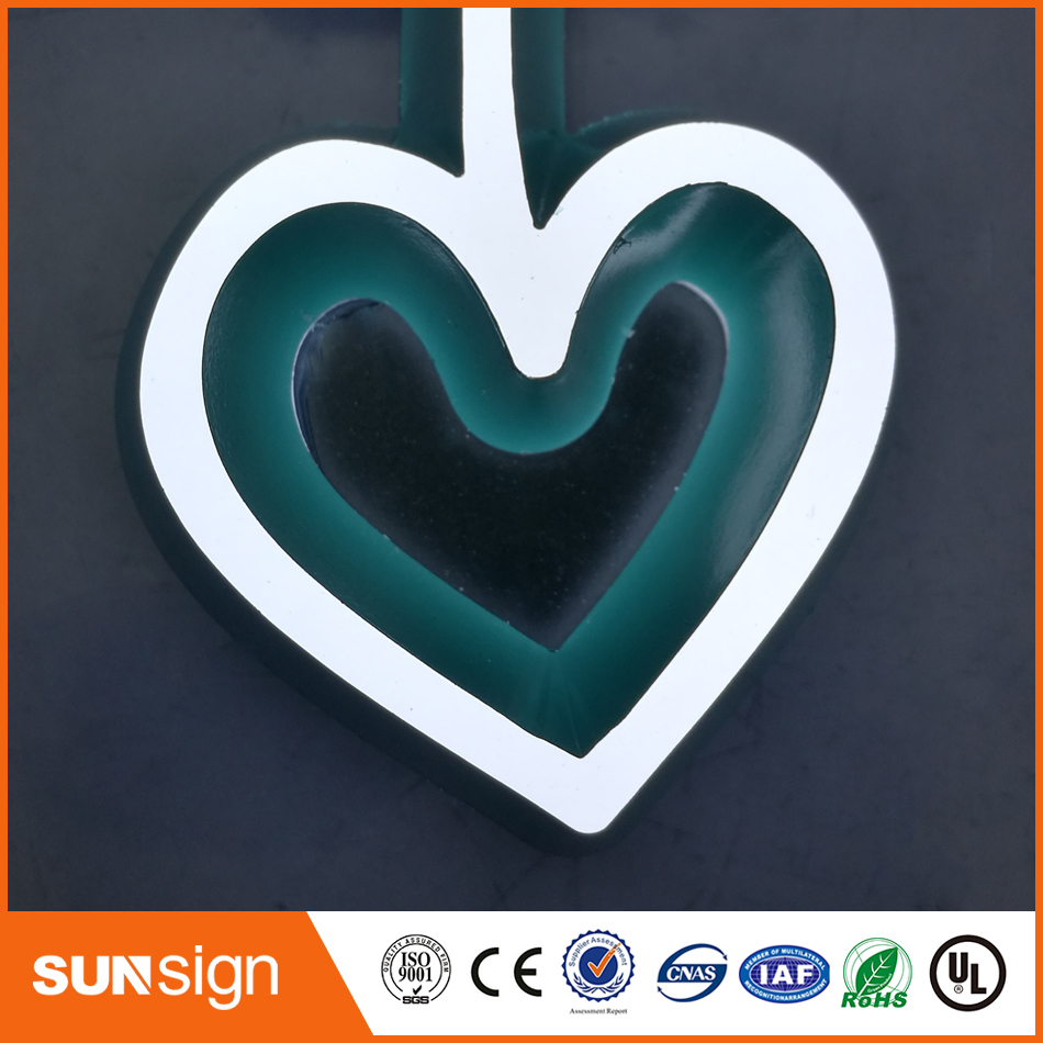 Factory Outlet INDOOR Mini Acrylic Led Illuminated Lettering Sign