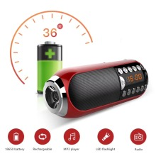 New arrival TF speaker C-868,with strong LED flashlight,Two