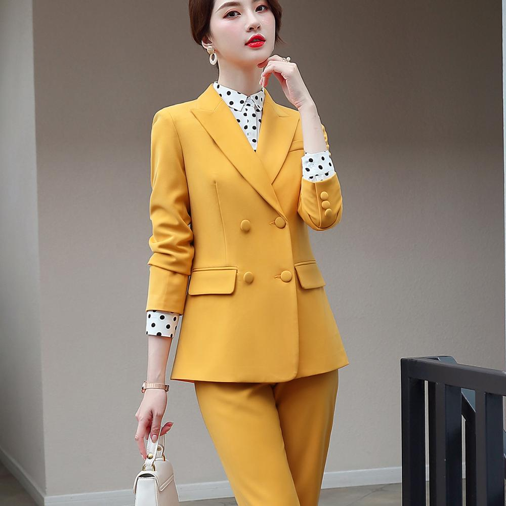 Elegant Long ladies blazer with buttons Women Solid Jacket of high quality Fashion Outwear coat Black Pink White;Blue Champagne 1