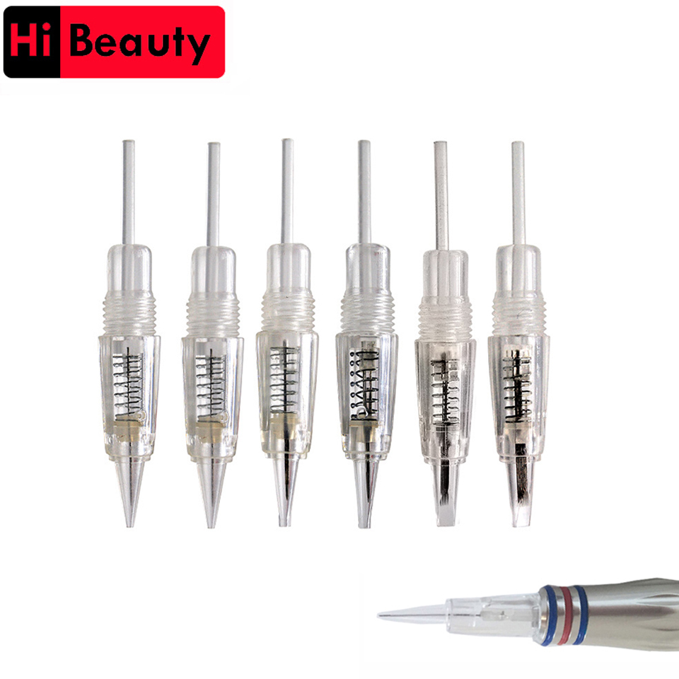 100pcs lot Disposable 8mm Screw Tattoo Needles Cartridges For Charmant Liberty Permanent Microblading Microneedling Makeup