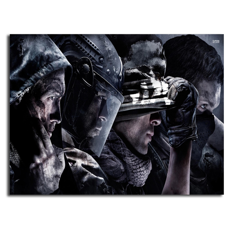 Us 76 5 Offgame Call Duty Ghosts Wallpapers Canvas Painting Print Bedroom Home Decor Modern Wall Art Oil Painting Poster Picture Framework In