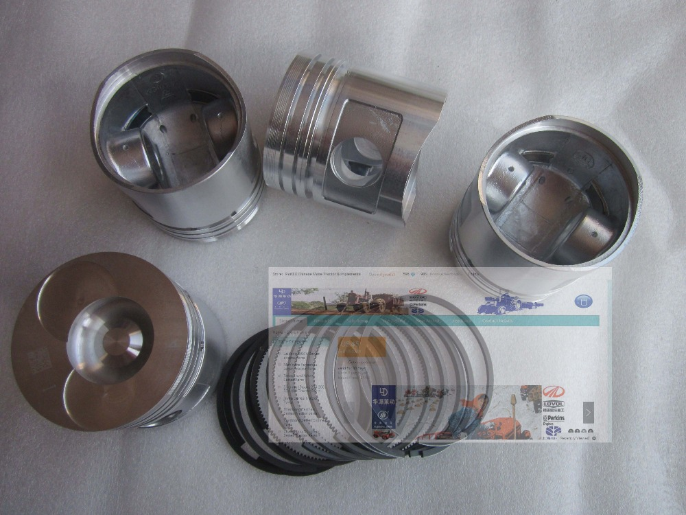 Zhejiang Xinchai C490BT engine parts for tractor like YTO, Jinma, Foton, set of pistons with rings, part number: XC4027-04001 luoyang yto engine lr4108t53 parts the set of piston rings part number rb 050002 1 03 1 0200 1