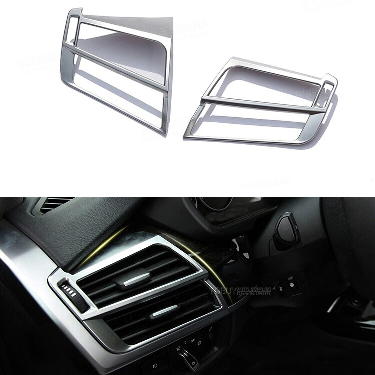 DEE 2pcs!Side Air Condition Vent Outlet Cover Trim Frame For BMW X5 F15 2014 2015 LHD Car Decorative Accessories,Styling Sticker epr car styling for nissan 370z z34 frp fiber glass front bumper air duct set fiberglass air vent accessories racing trim