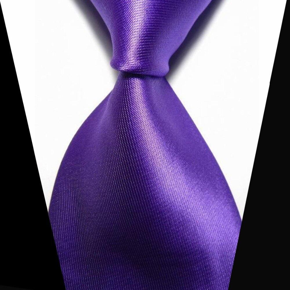 Solid Purple Men Tie Elegant