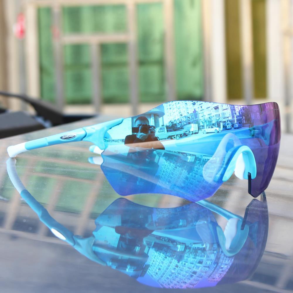 d3180b7549d EV FUll red Lens Polarized TR90 Sports Glasses Men MTB Mountain Road Runing  Fishing Eyewear Sunglasses