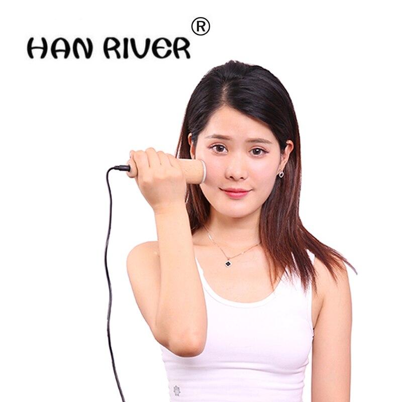 HANRIVER Jade facial beauty temperature moxibustion massage stick portable Eye care energy stone Thermal moxibustion instrument