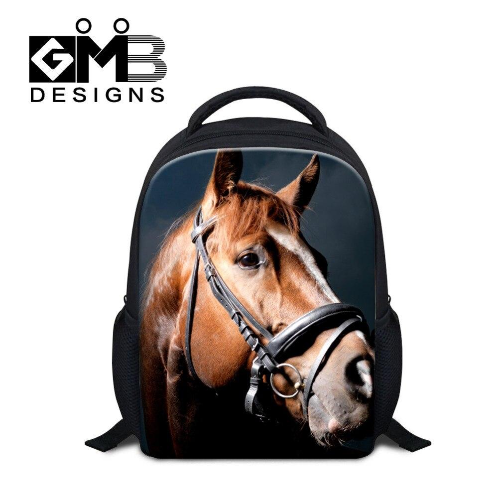 Didpalang Animal Mini School Bag For Boys Little Children Backpacks Kids SchoolBag Horse Print Book Bag Mochila Escolar Infantil