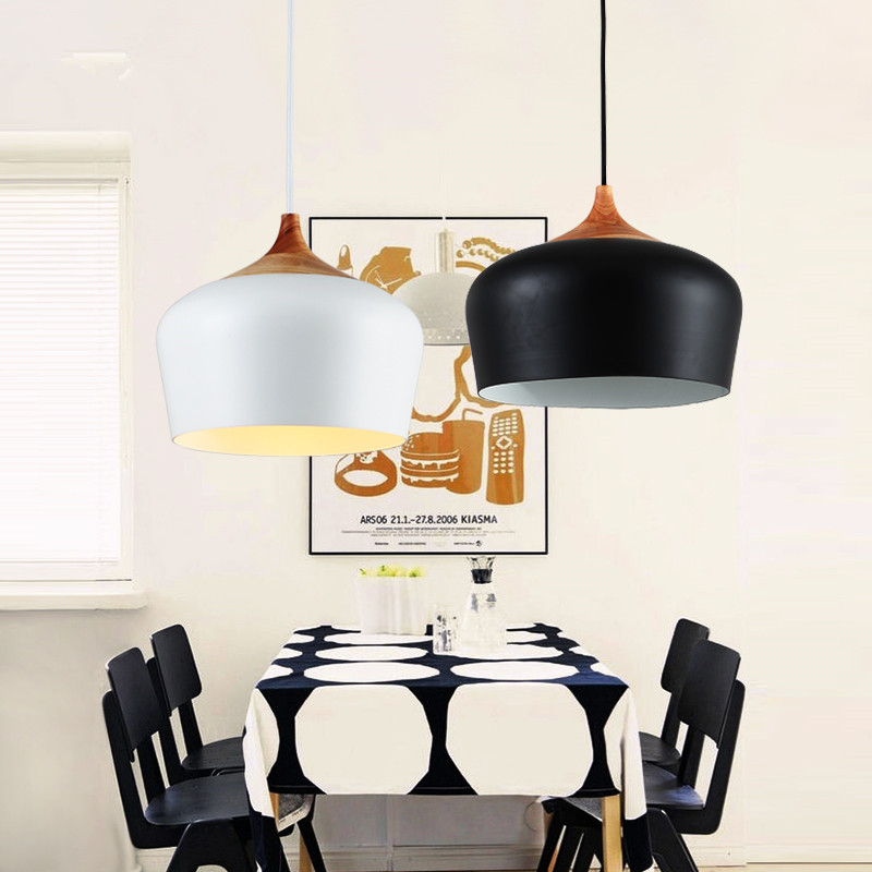 Northern Europe Creative Personality Single Head Restaurant Chandelier Simple Modern Bar Solid Wood Iron Bedroom Chandelier simple post modernity iron restaurant bar cafe originality personality northern europe annular hall chandelier freeshipping
