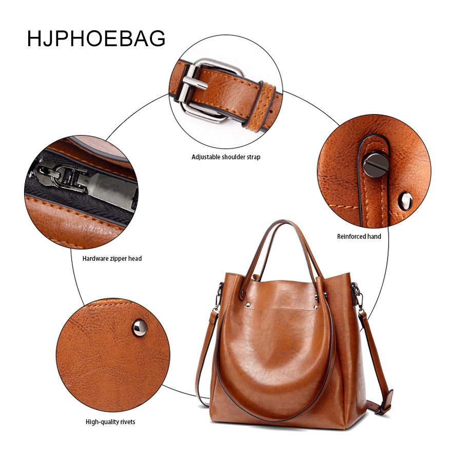 Image 5 - HJPHOEBAG women's bag designer fashion pu leather large size ladies Messenger bag high quality large capacity shoulder bag YC023-in Top-Handle Bags from Luggage & Bags
