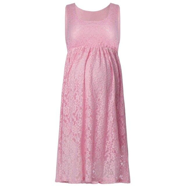 Aliexpress.com : Buy Pregnant Women Lace Maternity Dress Sleeveless ...
