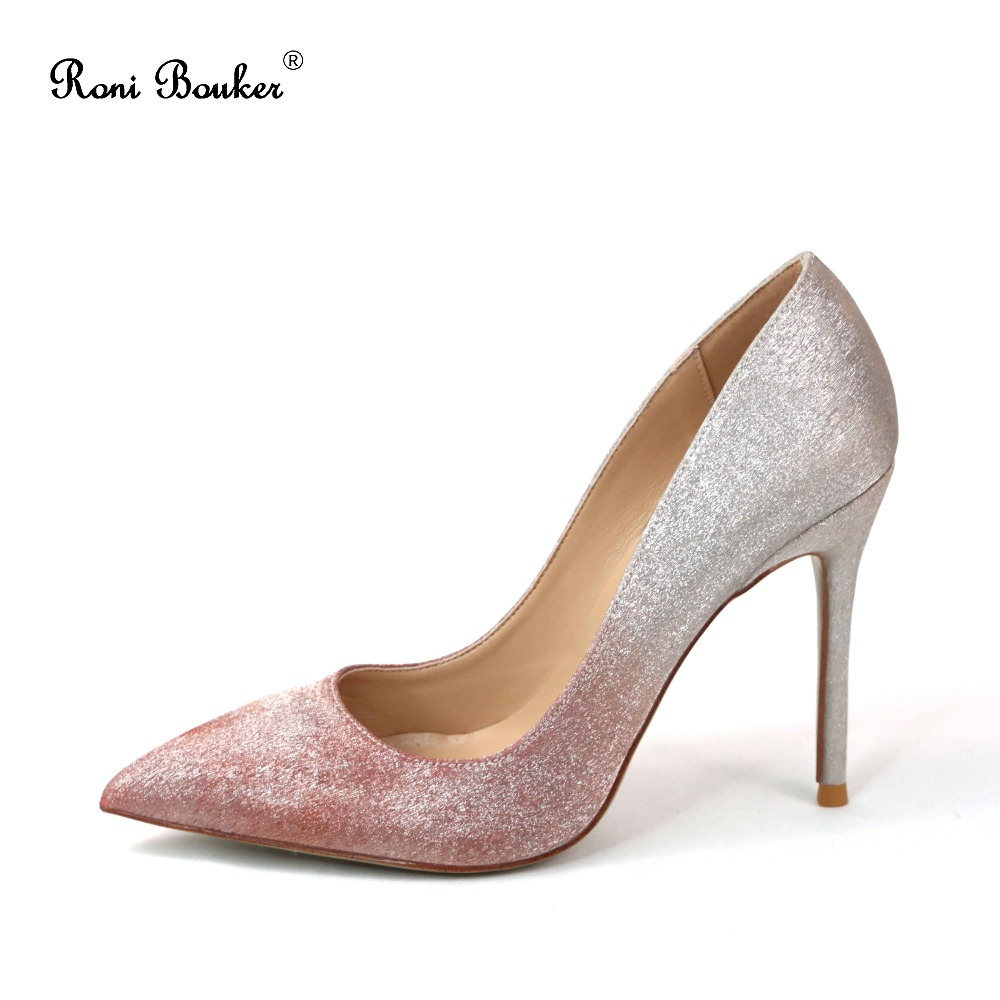 Roni Bouke Women Wedding Pumps Elegant Women Silver Sequins High Heels Pointed Toe Sexy Pumps Lady Party Wedding Shoes Plus SizeRoni Bouke Women Wedding Pumps Elegant Women Silver Sequins High Heels Pointed Toe Sexy Pumps Lady Party Wedding Shoes Plus Size