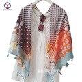 2016 New Fashion women Voile Scarf Geometric printing retangle shawl Brand scarf shawls Female Scarfs women scarves ladies wraps