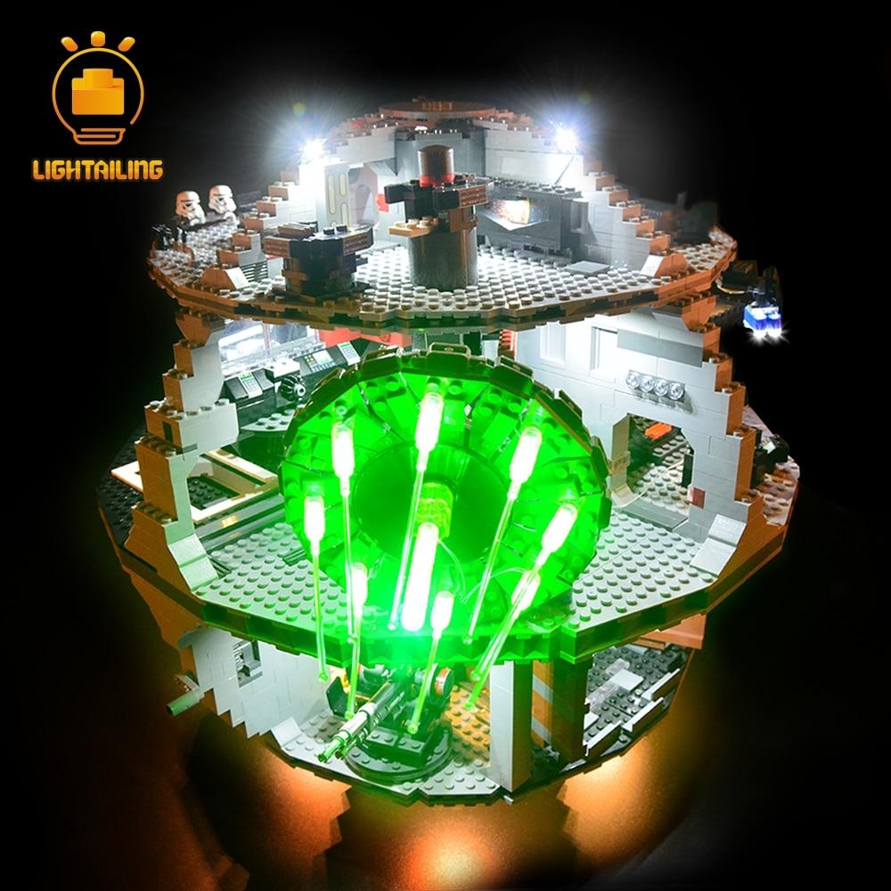 LIGHTAILING مجموعة إضاءة LED ل نجمة الموت اللبنات ضوء مجموعة متوافق مع 10188-في حواجز من الألعاب والهوايات على  مجموعة 3