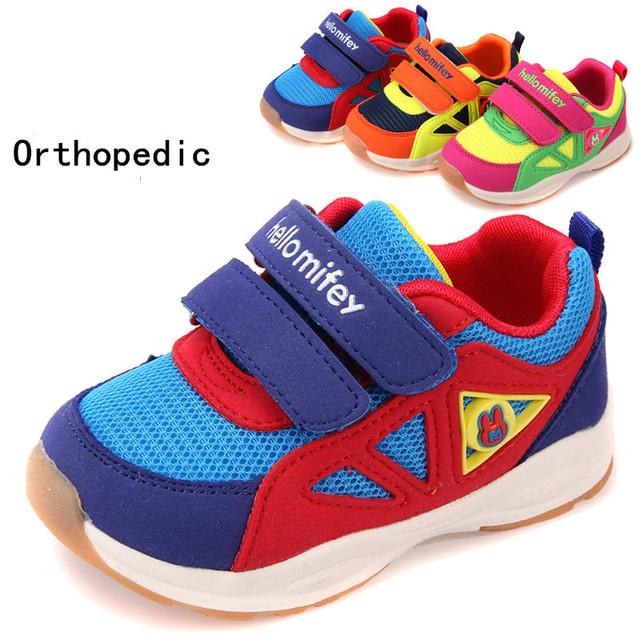 Calidad estupenda 1 pair Moda Deportes Niños Zapatos Ortopédicos, Zapatillas de Marca, niños Muchacho/zapatos de La Muchacha