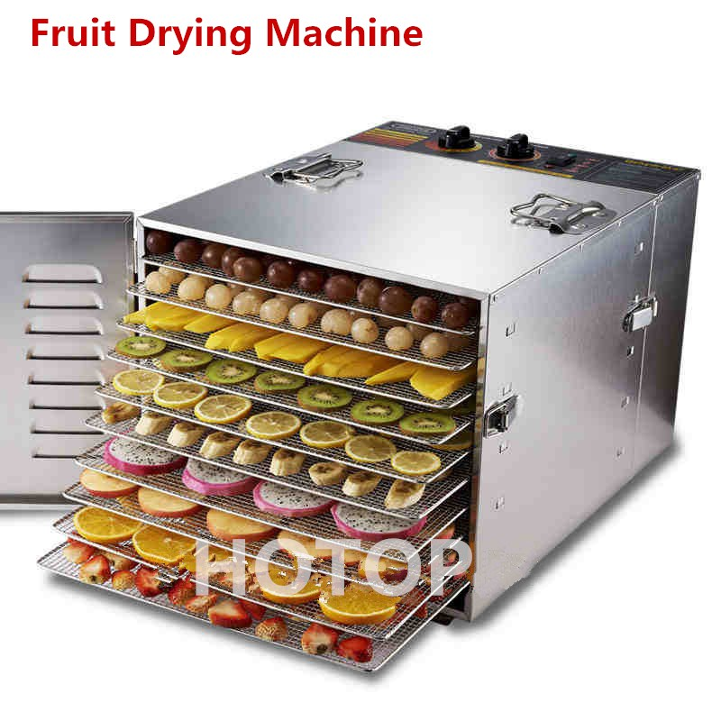Professional Commercial 980W Food Dehydrator Fruit Vegetable Herbal Meat Drying Machine Snacks Food Dryer Fruit Dehydrator computer controlled home food dryer machine 6 layer design fruit vegetable dehydrator 360 degree cycle drying dryer drying tool