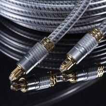 OD8.0mm Высокое качество Серебро Цифровой оптический Волоконно-оптический Toslink аудио кабель SPDIF шнур 1 м 1,5 м 1,8 м 3 м 5 м 8 м 10 м 15 м 20 м