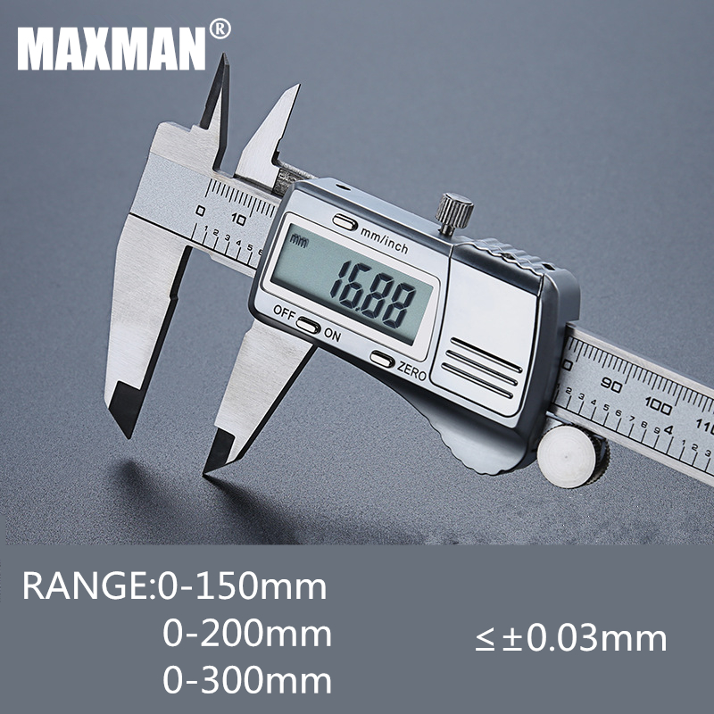 MAXMAN 0 150mm 200mm 300mm All Stainless Steel High Precision font b Electronic b font Digital