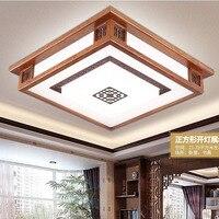 Tavan lambası Çin tarzı oturma odası lamba masif ahşap antika Çin lamba yaratıcı yatak odası restoran tavan ışık wl4241758