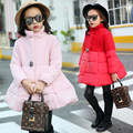 2016 New Girls Coat Children Fashion Outerwear Big Crystal Decorated Kids Autumn Winter Worsted Jacket Girl Fashion Clothes