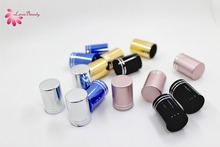 Free Shipping Metal texture Colorful Cap for Eyelash Extensions Glue Packaging Bottle Liquid Packing Container 50pcs/Lot free shipping 200ml 20pcs lot transparent pet medicine refillable bottle capsules liquid packing bottle with white screw cap