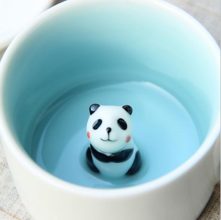 unique mini taza mugs cup creative animals bathtub cup. Black Bedroom Furniture Sets. Home Design Ideas