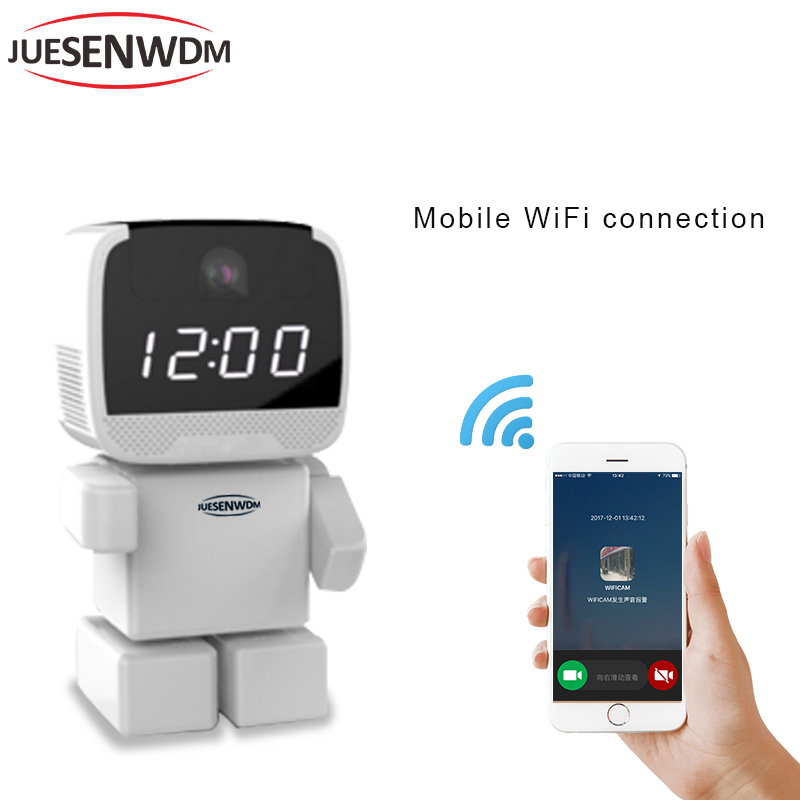 Smart Robot camera Wifi HD Wireless IP Camera Support Two-way Audio Wi-fi Night Vision Camera 1.3MP IP Network Camera 960P CCTV robot camera wifi 960p 1 3mp hd wireless ip camera ptz two way audio p2p indoor night vision wi fi network baby monitor security