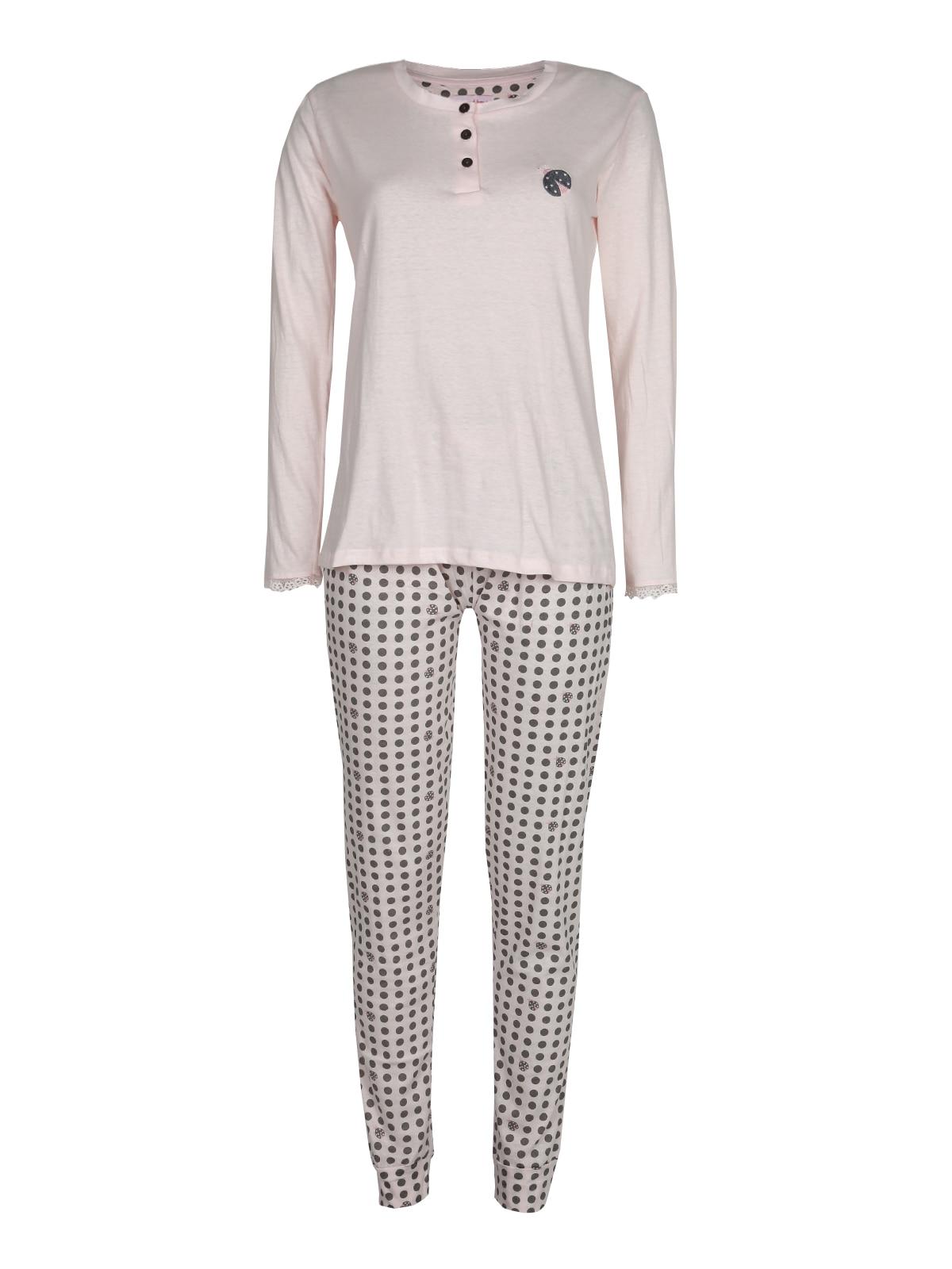 Pajamas Cotton Long With Polka Dot Pants