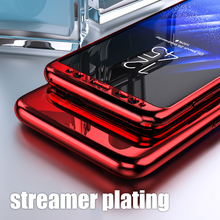 KINBOM Luxury Glass Case For Samsung  s9 s8 s7 s10 plus Cover Galaxy Note 8 9 Plating Mirror Glossy Cell Phone