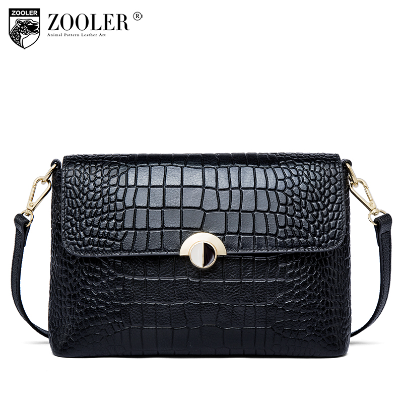 2018 New Genuine leather woman bag ZOOLER classic button cross body small women shoulder messenger bags