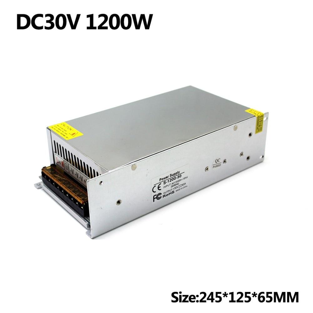 DC30V Switching Power Supply 40A 1200W Driver Transformers 110V 220V AC to DC30V SMPS For Led
