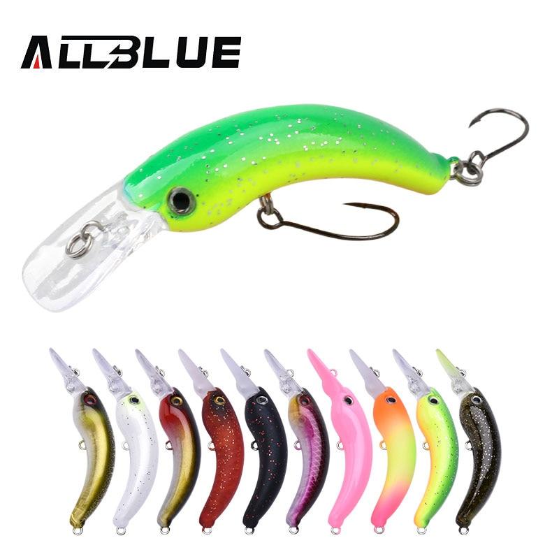 ALLBLUE 3.0g 42mm Mini Crankbait RICE Trout Wobbler Fishing Lure Freshwater Minnow Crank Artificial Hard Bait Fishing Tackle