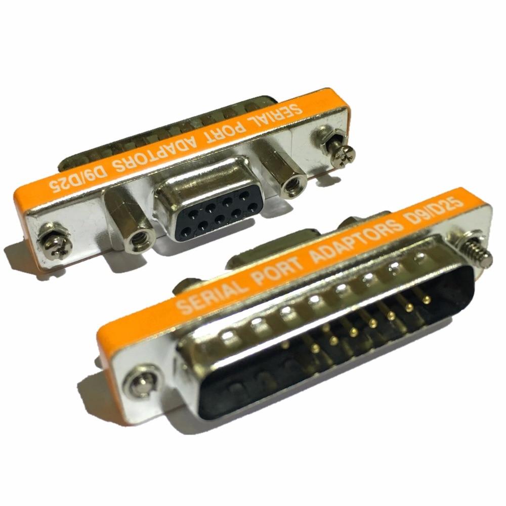 DB25 male to DB9 female Adapter D9/D25 Serial Port Adaptor 9Pin ...