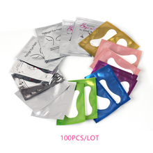 100 Pairs Under Eye Pads Patch Set Eyelash Extensions Lint Free Hydrogel Gel for Extension Building