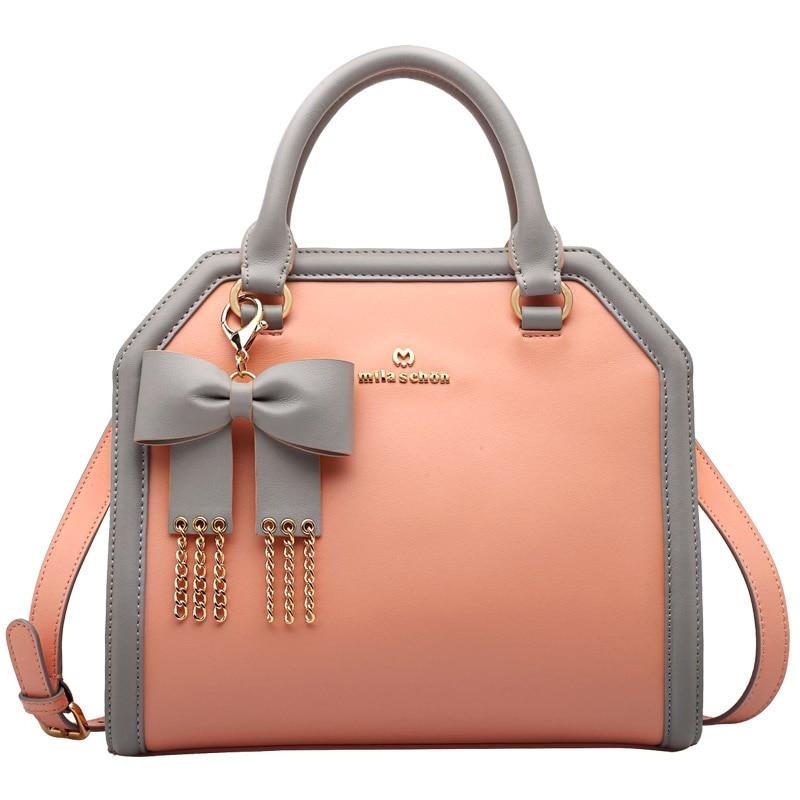 купить NEW luxury Brand women leather bags designer shoulder bags genuine leather bag handbag bolsos mujer de marca famosa 2018-CK100 по цене 6694.06 рублей