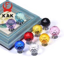 KAK Crystal Cabinet Knobs and Handles Colorful Ball Dresser Pulls Drawer Kitchen Furniture Hardware