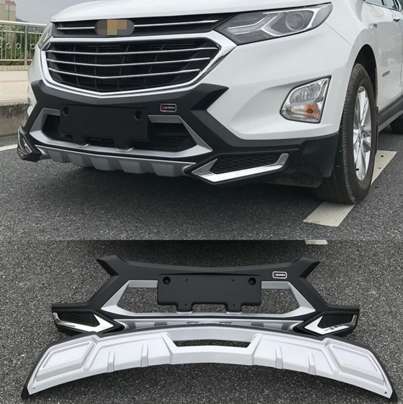 Otomobiller ve Motosikletler'ten Krom Şekillendirici'de Chevrolet EQUINOX 2017.2018 için tampon koruyucu güvenlik Anti darbe plakası yüksek kalite marka yeni ABS ön + arka araba aksesuarları
