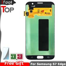 SUPER AMOLED LCD for SAMSUNG Galaxy s7 edge G935 G935F Display Touch Screen with frame Digitizer