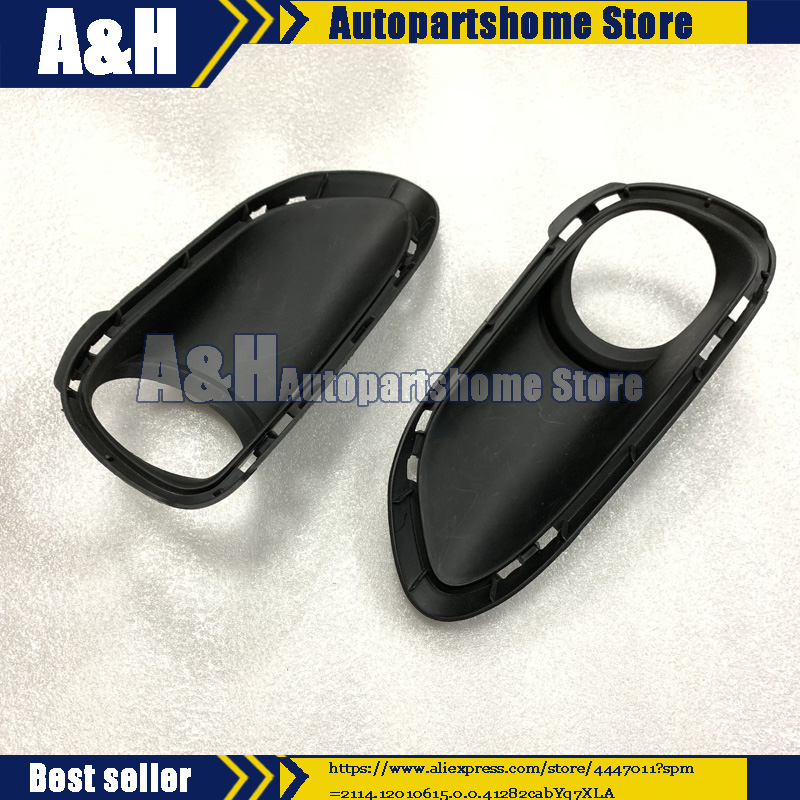 Trim Housing Grille Front Fog Lamp Cover For Porsche Cayenne TURBO4.8 2010-2014