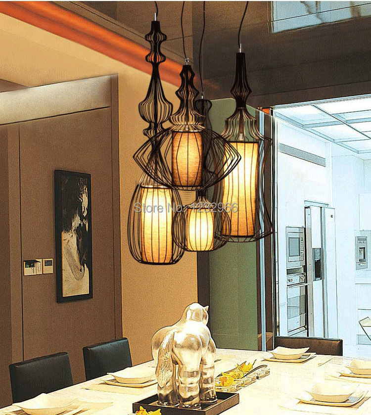 ФОТО Hemp Rope Light Classic LED Pendant Light Muuto E14 Baking Finish with Cloth Hemp Rope Muuto Pendant Light