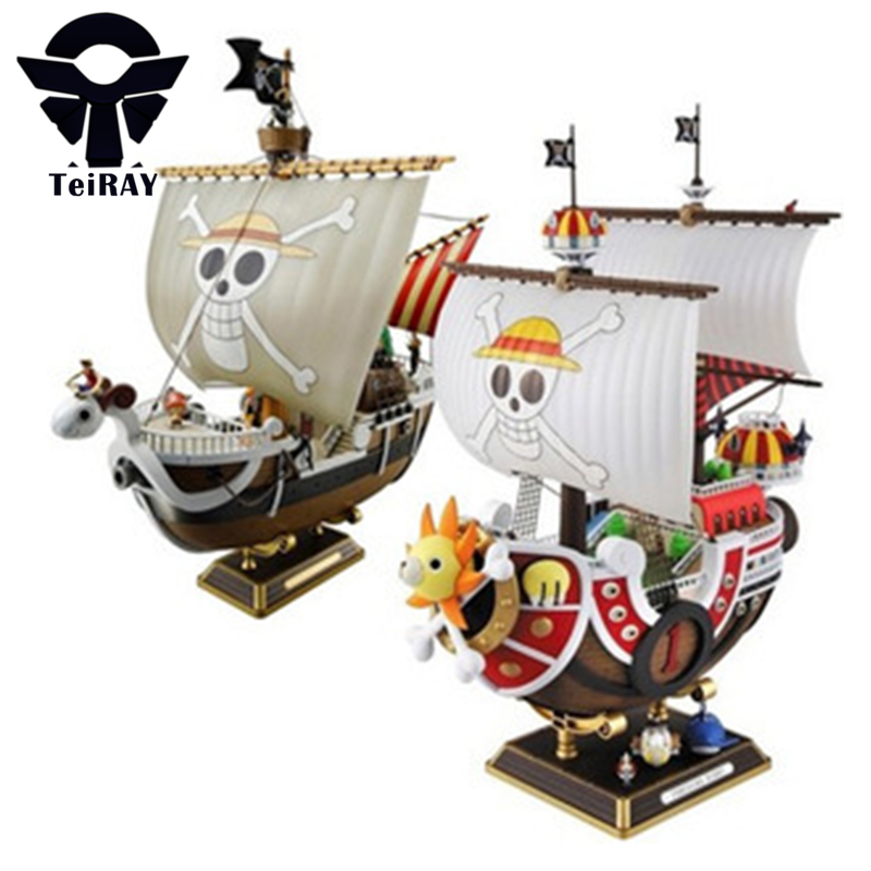 ФОТО Anime One Piece Thousand Sunny Meryl Pirate Boat Figuras Pvc Action Figures Model Toys Kids boys toys Birthday boxed Gifts 11
