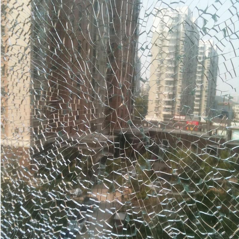 1.52x10 m 12 Mil clair sécurité fenêtre Film sécurité verre autocollant Film Anti-éclatement 60''x33ft