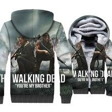 The Walking Dead Jacket Men 3D Hipster Hoodies Rick Sweatshirt 2018 Winter Thick Fleece Zipper Coat Sportswear Brand Clothing