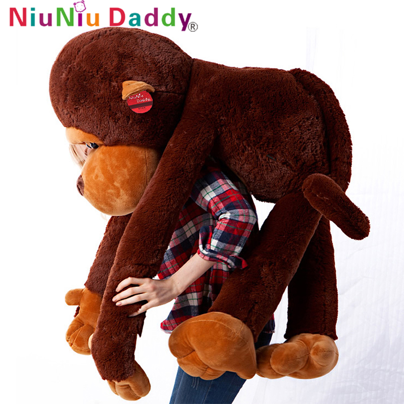 Niuniu Daddy 110cm Giant Stuffed Monkey Toy Plush Embrace Monkey Cute Kids Toy Sleeping Toy Staff Toy For Children Free Shipping lovely middle plush monkey toy cute yellow coat monkey toy doll gift about 65cm 0127