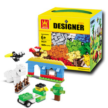 625Pcs Kids Building Blocks City DIY Creative Bricks Toys For Child Educational Wange Building Block Bricks Compatible