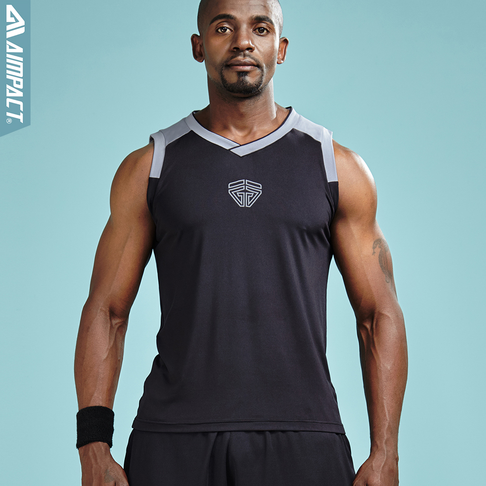 Aimpact Sportive Men's Tank Top Fast Dry 2018 New Fashion Sleeveless tshirts for Men Gymi Workout Male Brand Clothing AM1025 стул для кормления bebe confort kaleo шоколад 27518190